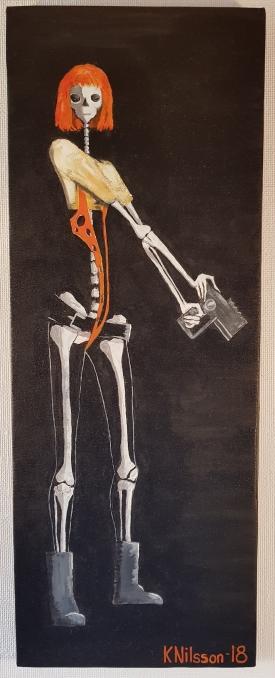 Skelett - Leeloo, 30x80cm, SÅLD