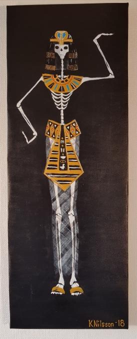 Skelett Kleopatra 30x80cm SÅLD