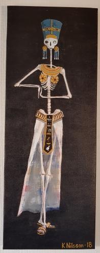 Skelett Nefertiti 30x80cm SÅLD