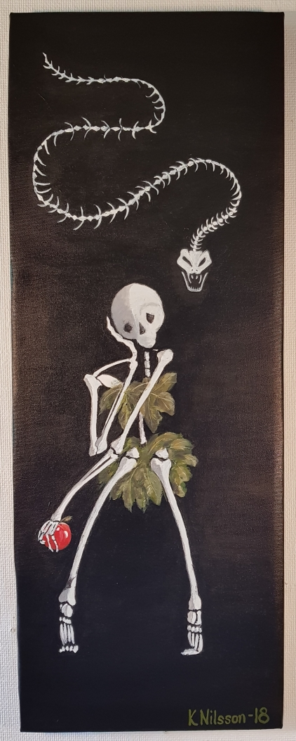 Skelett Eva 30x80cm Pris 1000kr