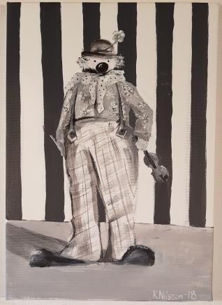 Clown 35x50cm SÅLD