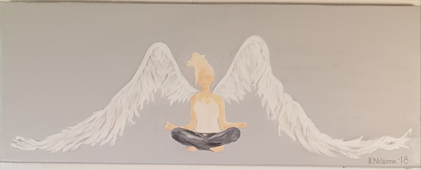 "Ängel ""Yoga"" 30x80cm SÅLD"